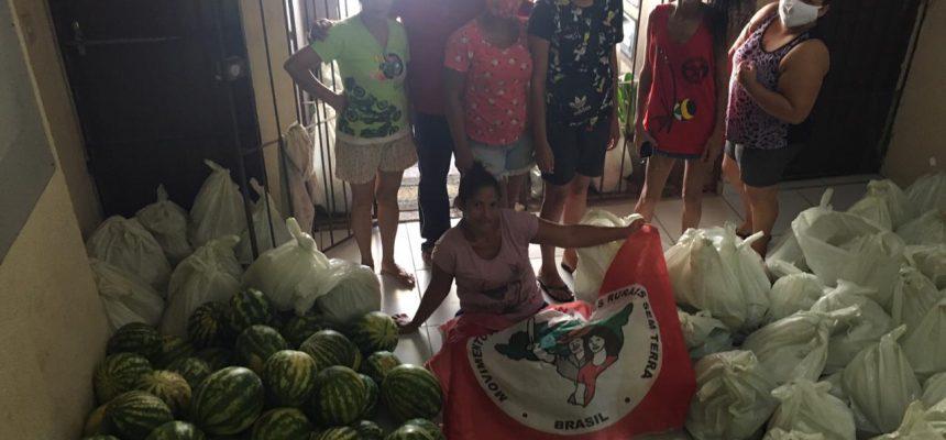 Em parceria com movimentos populares, MST doa 5 mil toneladas de alimento na Paraíba