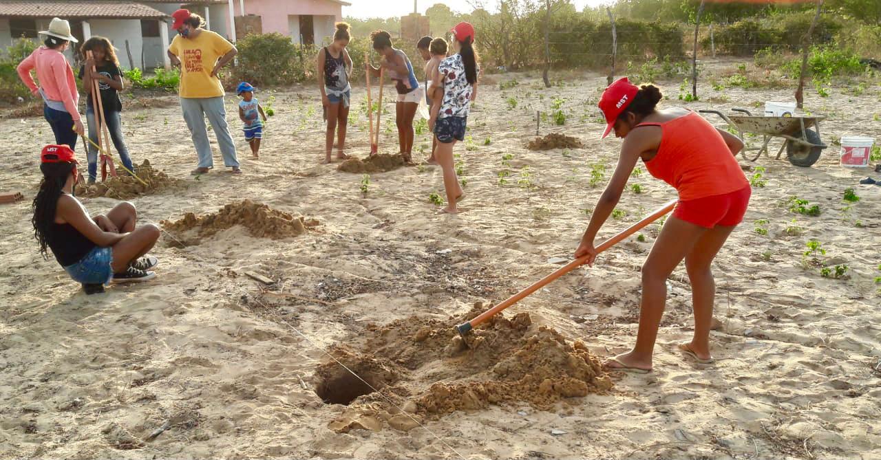 Jovens de assentamento no RN colaboram com campanha do MST de plantar 100 milhões de árvores