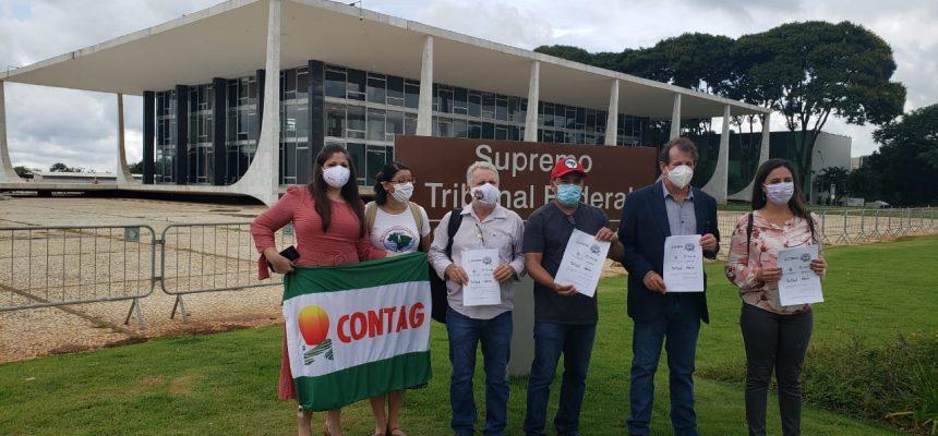 Organizações populares realizam Ato e protocolam ADPF em defesa da Reforma Agrária