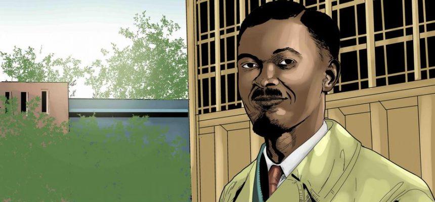 Homenagem a Patrice Lumumba, líder do movimento de independência do Congo