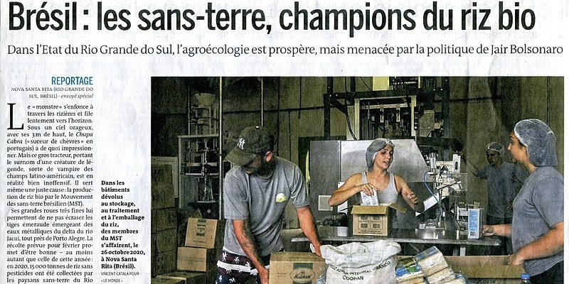 Jornal francês Le Monde destaca produção agroecológica do MST