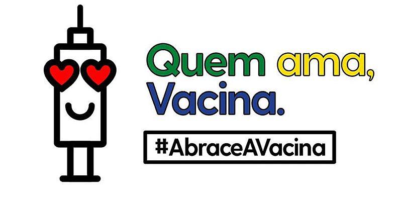 """Campanha """"Abrace a Vacina"""" estimula população a se vacinar contra o Covid-19"""