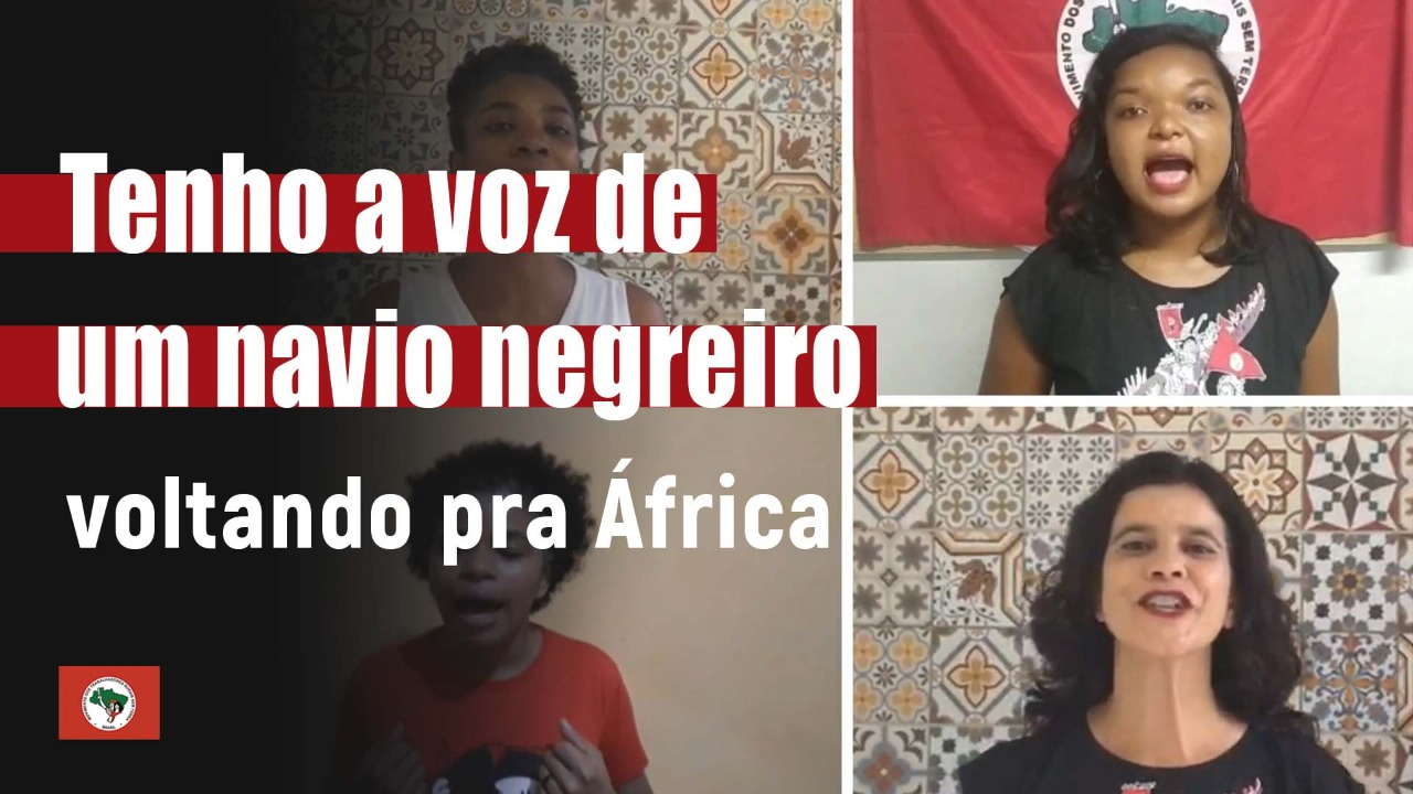 Tenho a voz de um navio negreiro voltando para África
