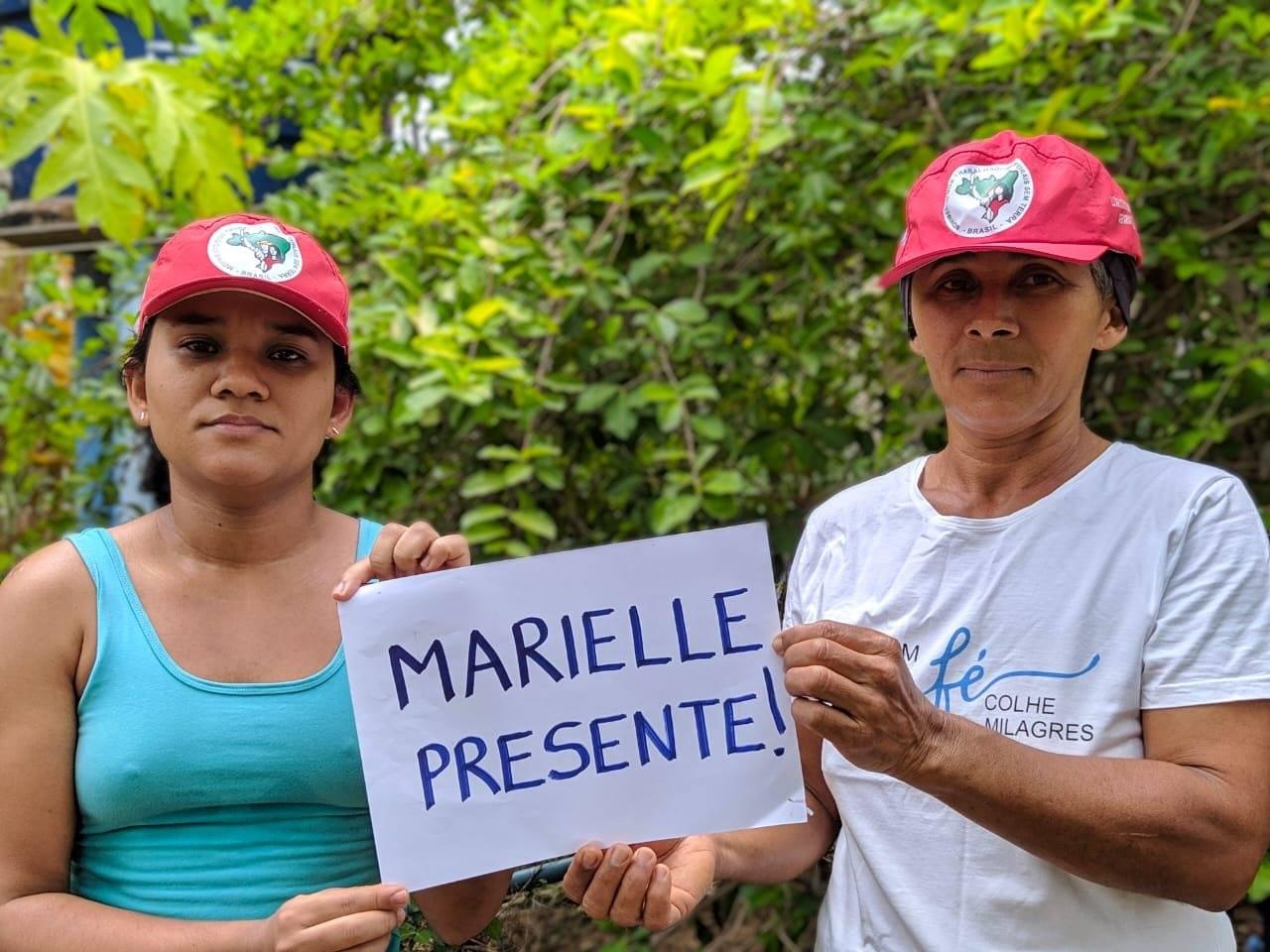 Atos contra impunidade do caso Marielle Franco encerram Jornada de Luta das Mulheres Sem Terra