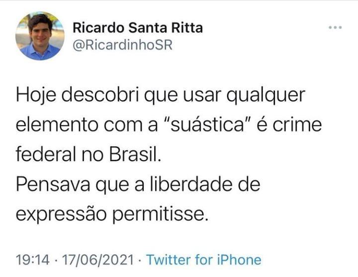 """MST em Alagoas repudia ideias nazistas divulgadas por Ricardo Santa Ritta; """"Isto é crime!"""""""