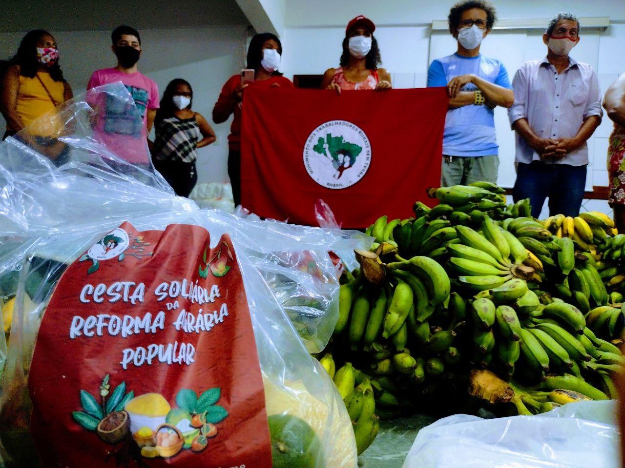 No enfrentamento à pandemia, MST doa 10 toneladas de alimentos à população de Belém