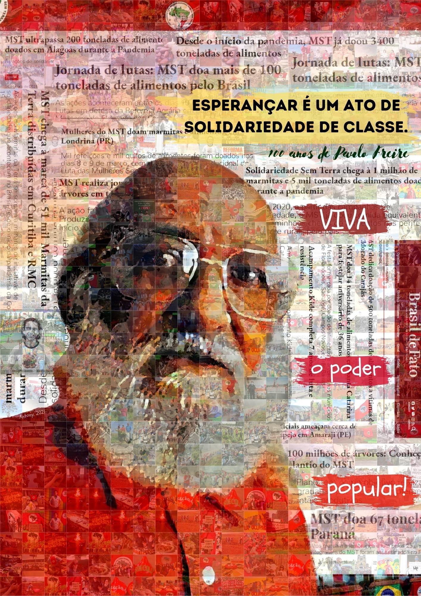 Confira a exposição de arte internacional em homenagem ao Centenário de Paulo Freire