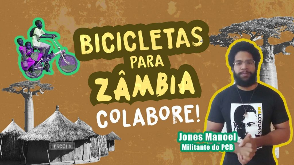 EU APOIO! Jones Manoel à Campanha Bicicletas para Zâmbia