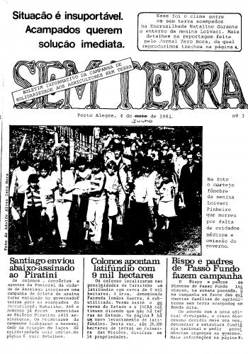 Boletim Sem Terra Nº 03/1981